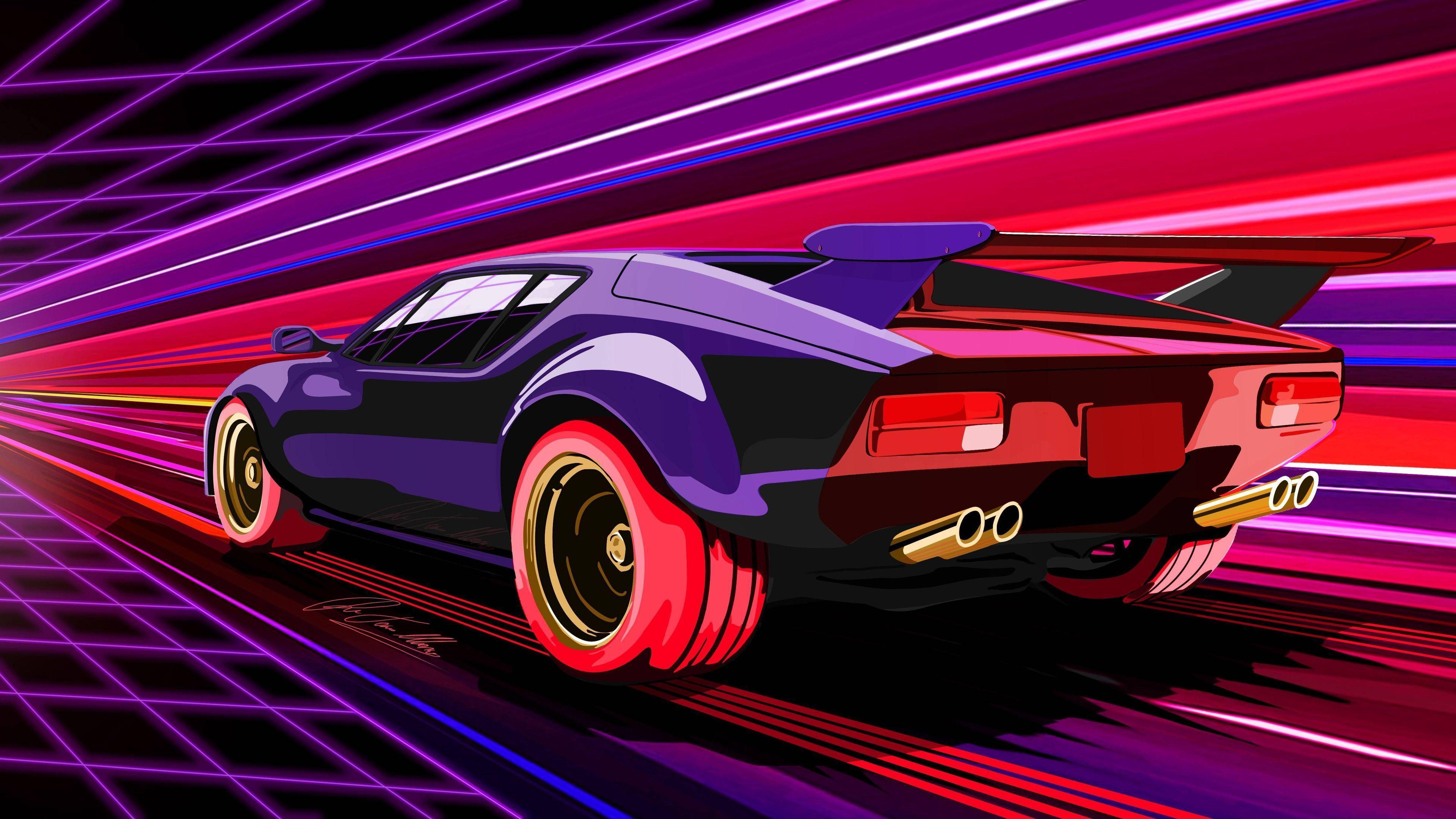 3840x2160 Hình nền 4k Retro Racing Muscle Car 4k Hình nền 4k, 5k