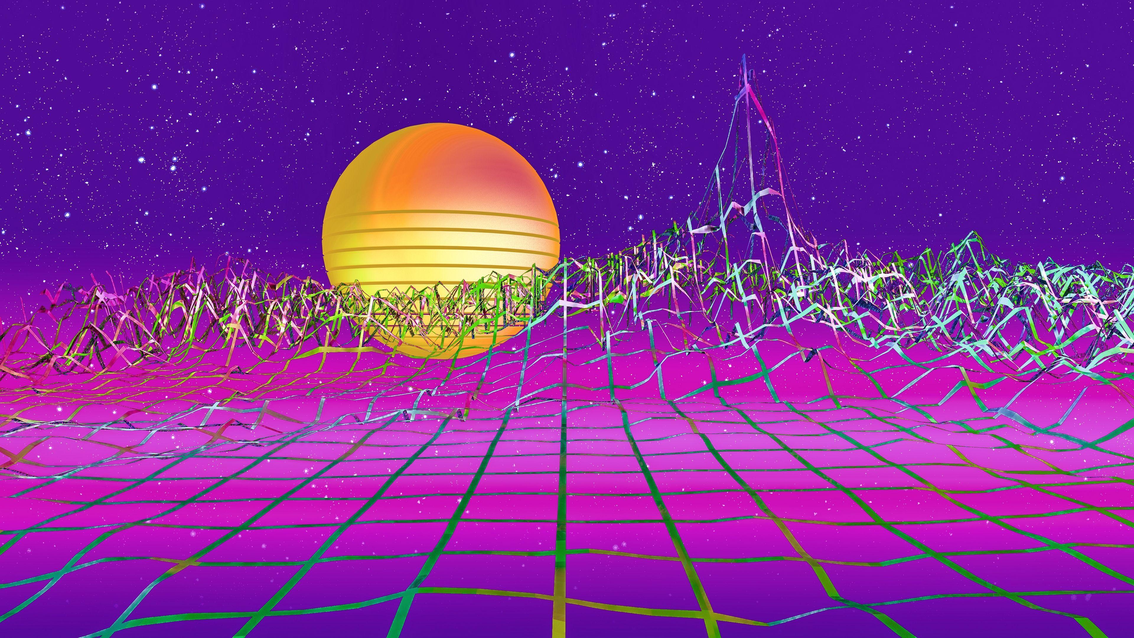 3840x2160 Synthwave Hình nền 4k