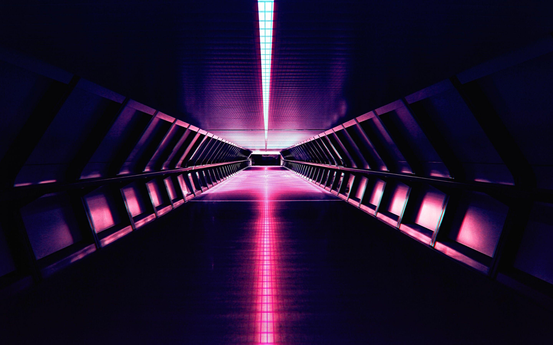 2880x1800 Hình nền Synthwave, Cổ điển, Nhạc điện tử, Đèn neon, Kiến trúc