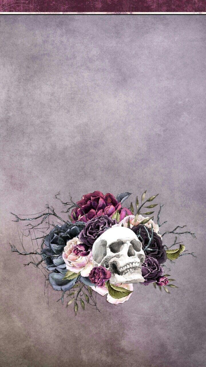 Vintage Floral Skull Wallpapers Top Free Vintage Floral Skull