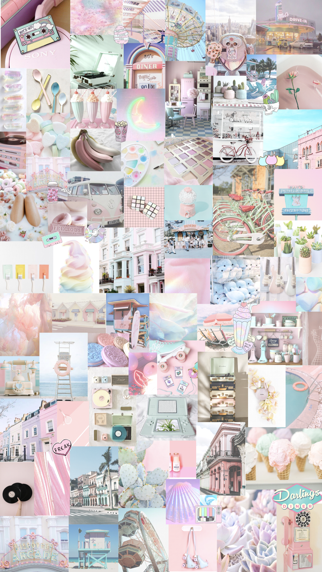 Pastel Collage Wallpapers Top Free Pastel Collage Backgrounds