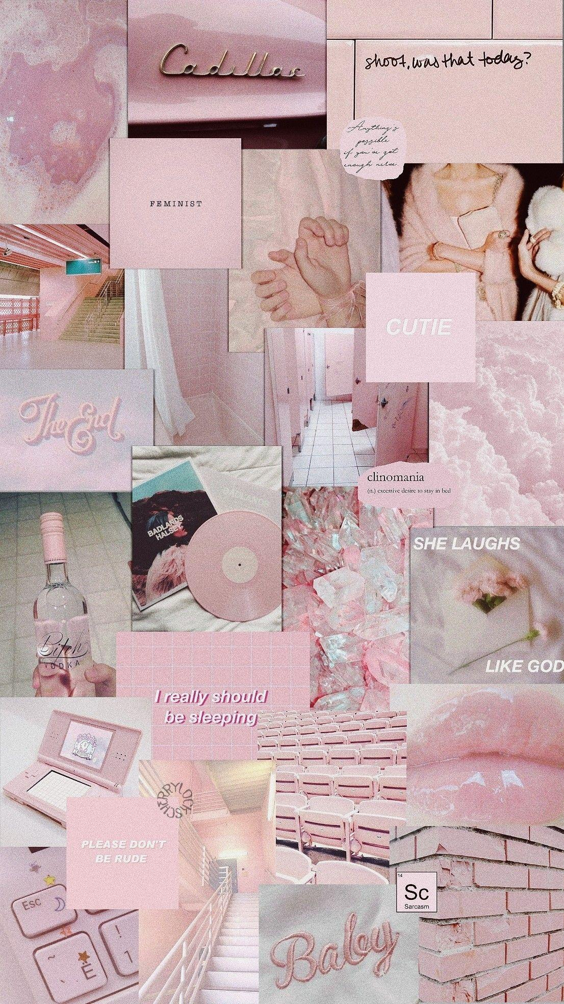 Pink Collage Wallpapers Top Free Pink Collage Backgrounds
