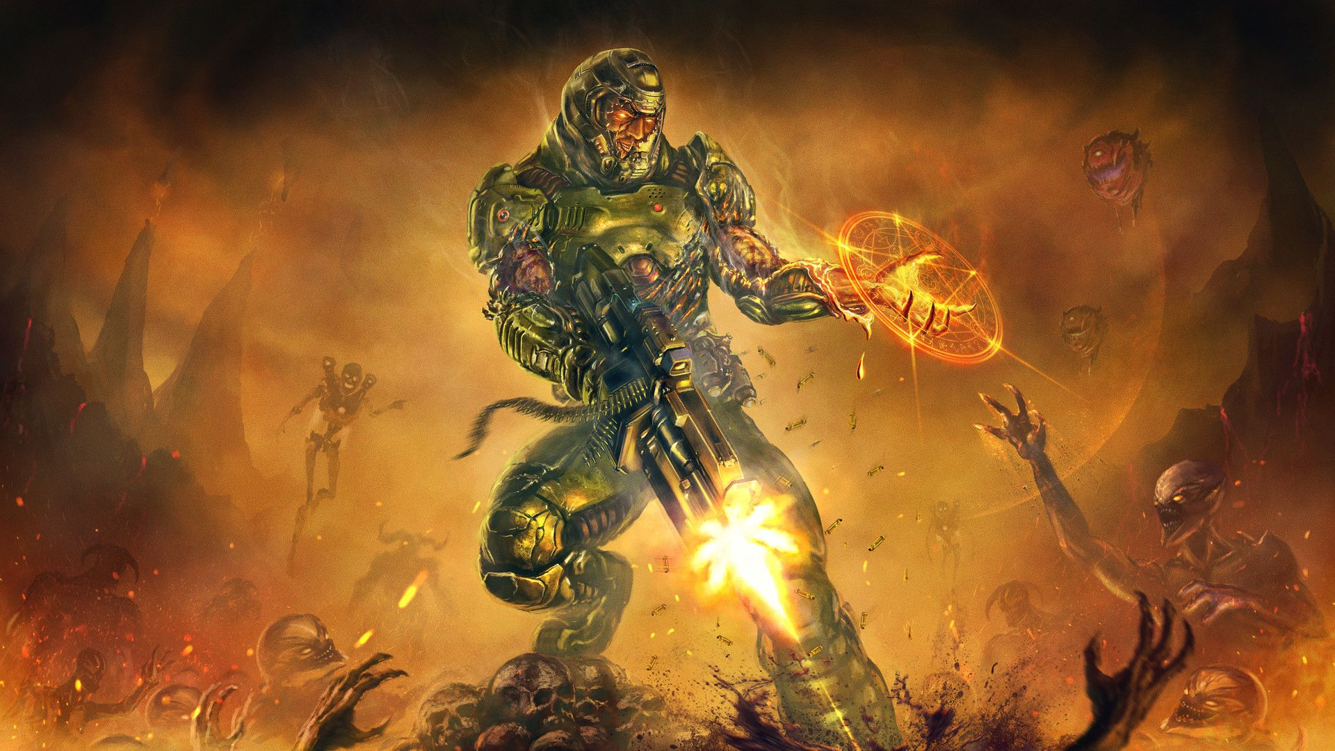 doom slayer wallpaper android