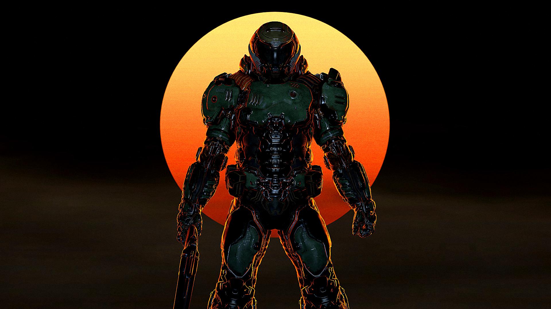 Doom Slayer Wallpapers Top Free Doom Slayer Backgrounds Wallpaperaccess