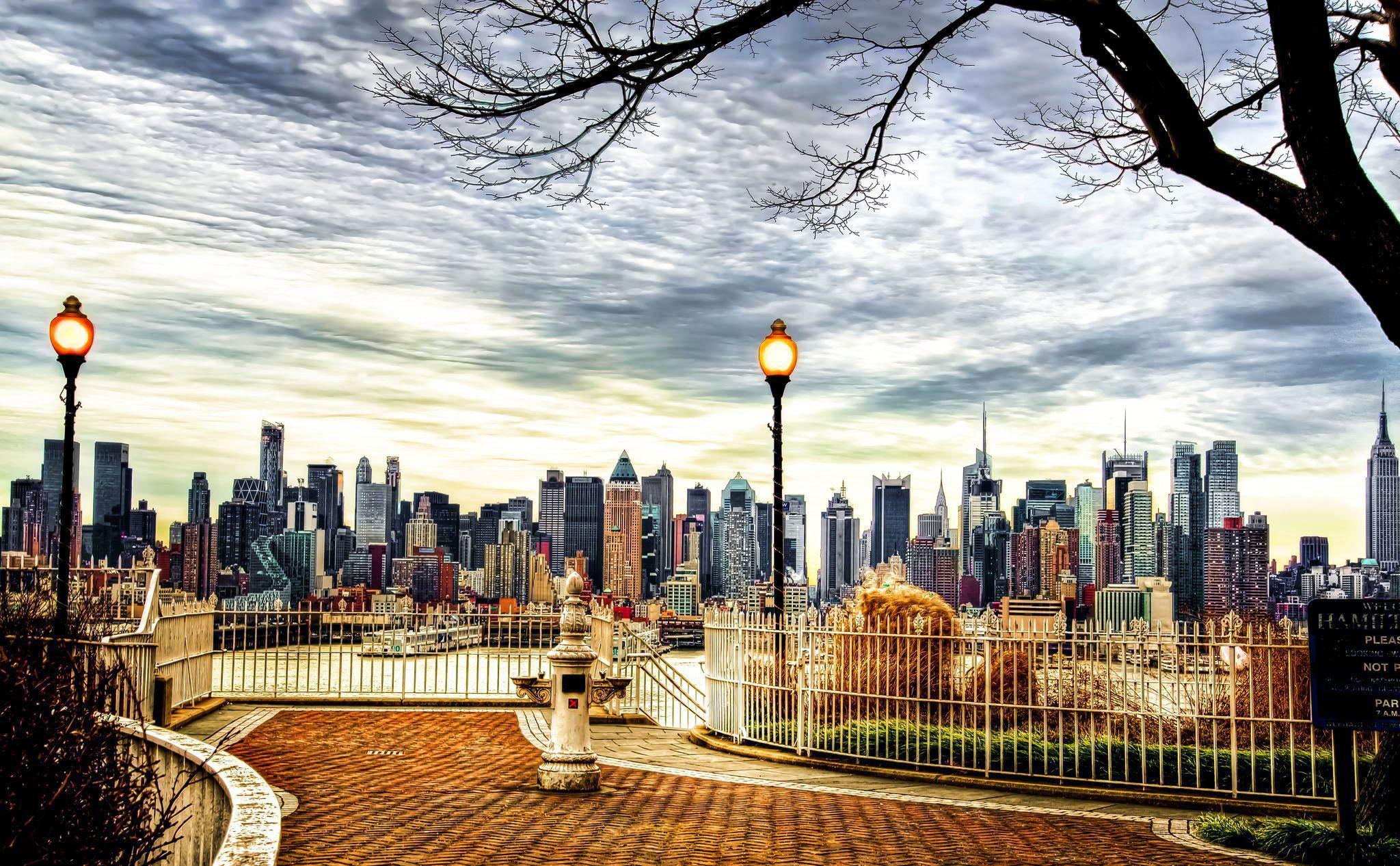 New York Night View Hd Wallpaper Hd Blast