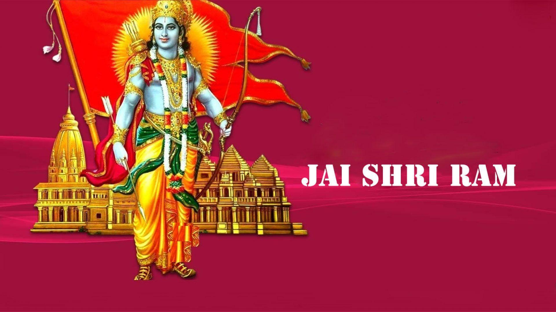 1920x1080 Jai Shri Ram Flag Image HD.  Các vị thần và nữ thần của đạo Hindu