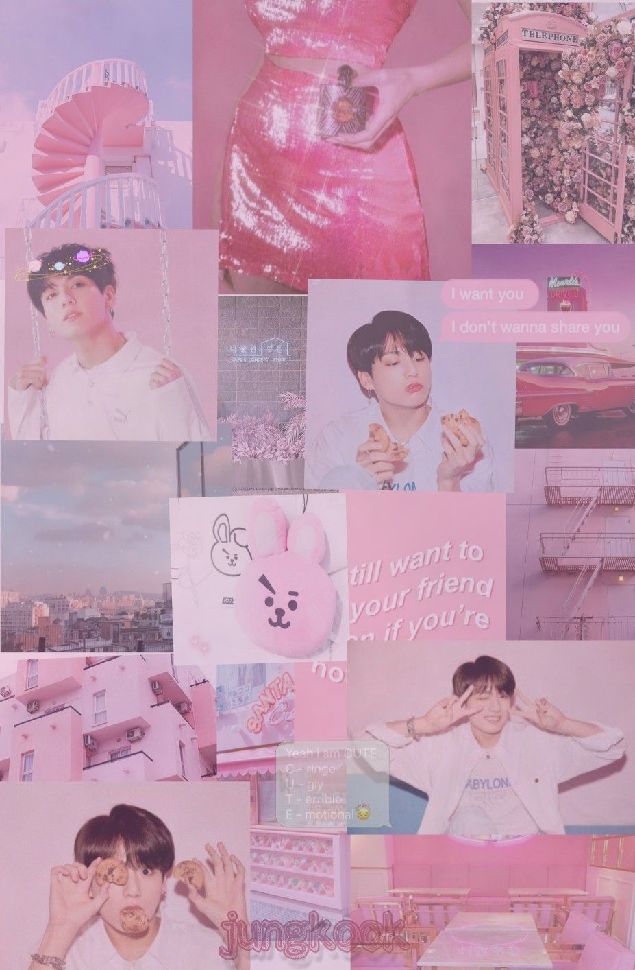 Pink Aesthetic Bts Iphone Wallpapers Top Free Pink Aesthetic Bts Iphone Backgrounds Wallpaperaccess