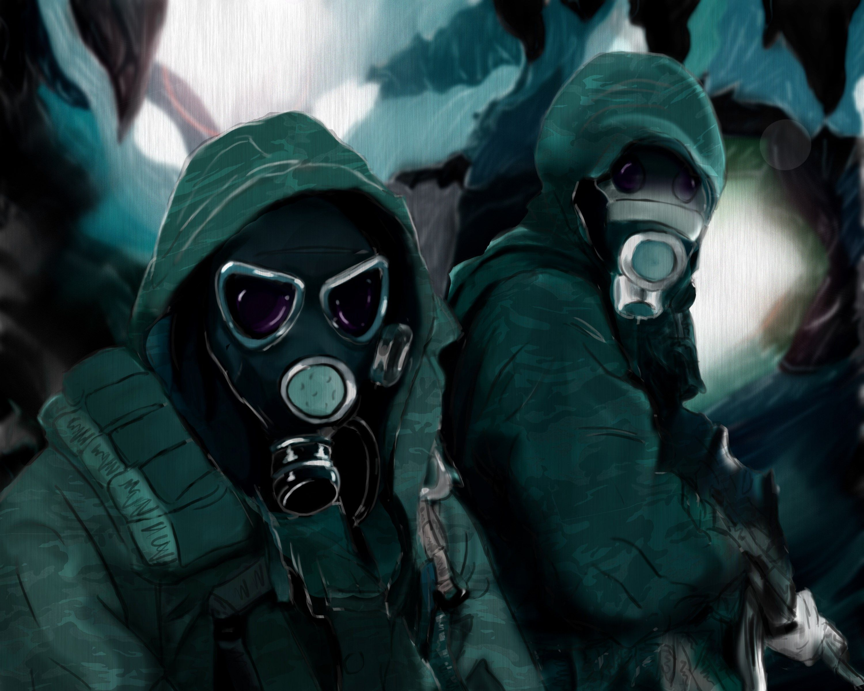 Anime Gas Mask Wallpapers - Top Free Anime Gas Mask Backgrounds