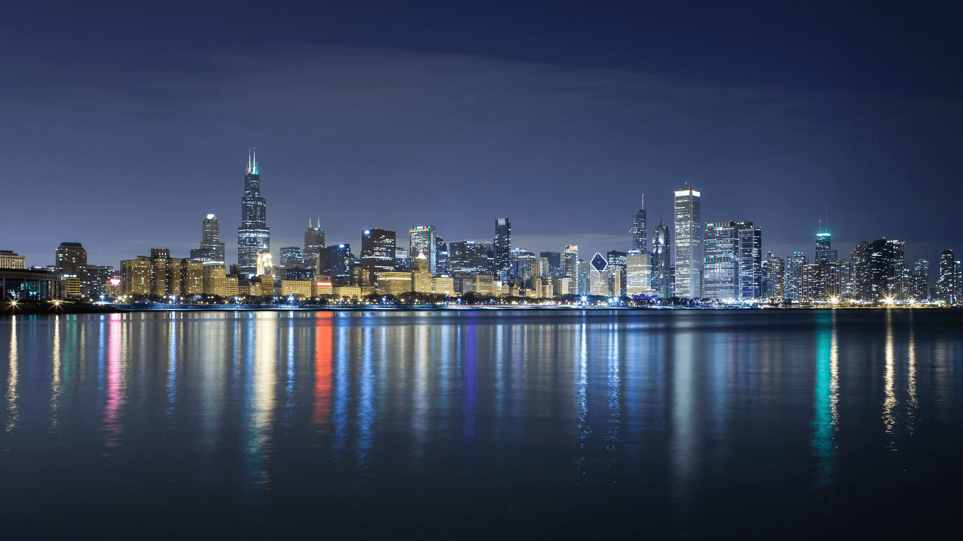 Chicago skyline wallpapers top free chicago skyline backgrounds wallpaperaccess - Chicago skyline wallpaper 1920x1080 ...