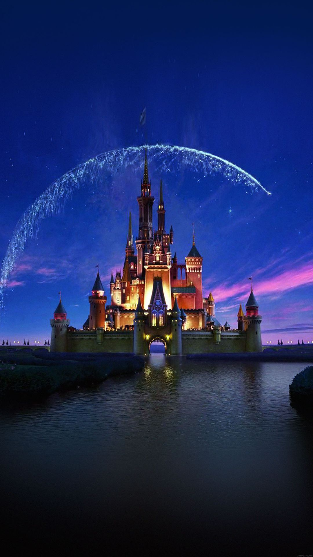 Hình ảnh chạm 1080x1920 để có thêm hình nền Disney của iPhone!  Tác phẩm nghệ thuật lâu đài Disney