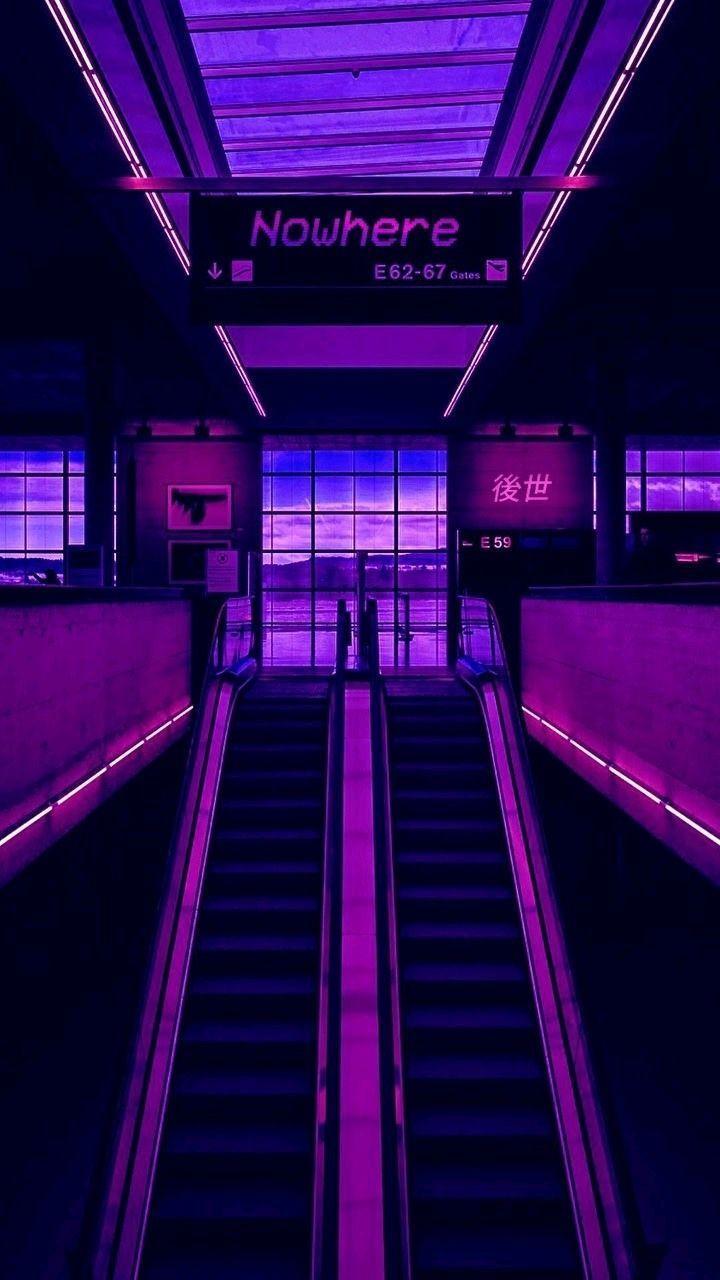 Neon Purple Aesthetic Wallpapers Top Free Neon Purple Aesthetic Backgrounds Wallpaperaccess