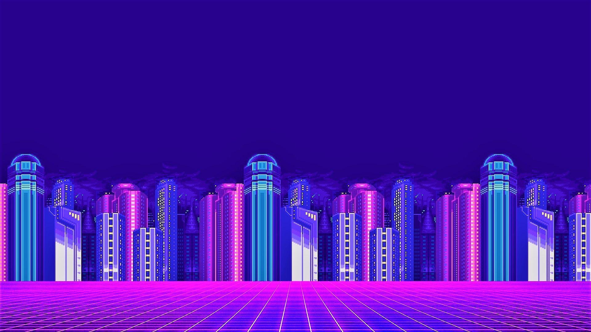Neon City Vaporwave Wallpapers Top Free Neon City Vaporwave