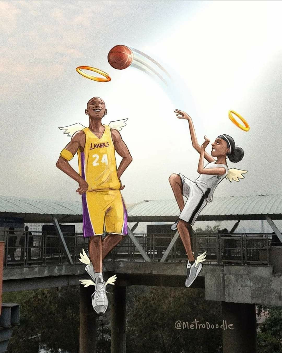 Kobe Gigi Wallpapers Top Free Kobe Gigi Backgrounds Wallpaperaccess
