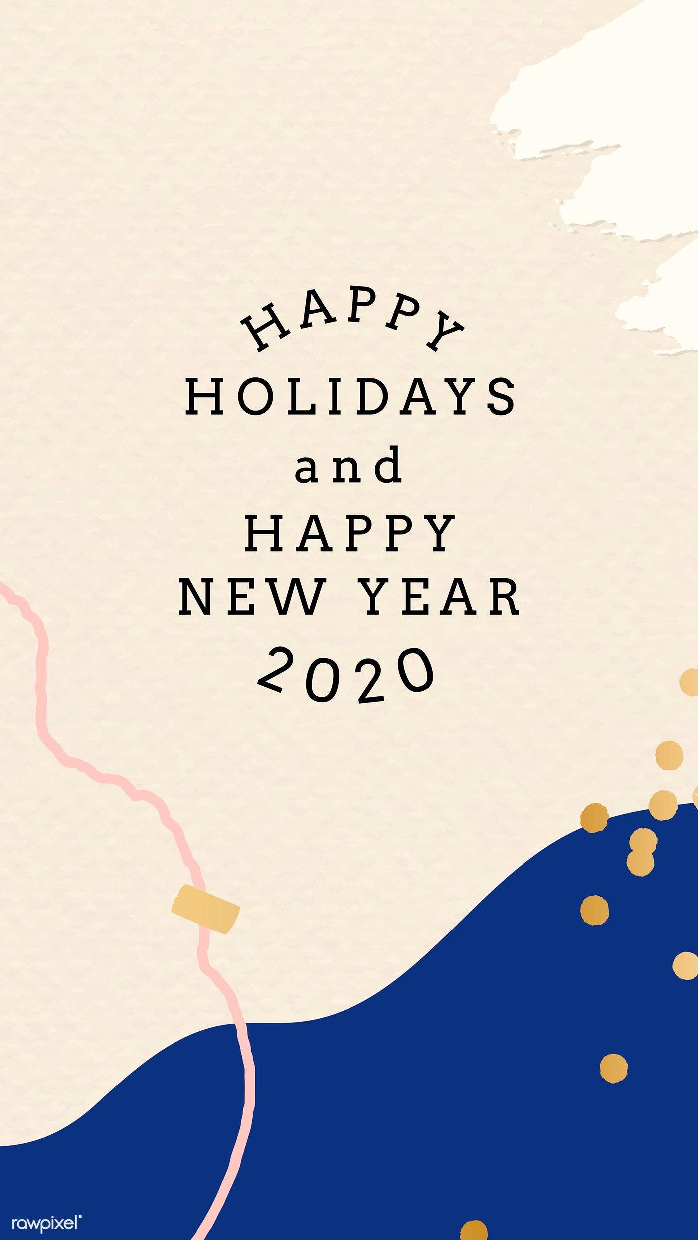1400x2488 Hình nền điện thoại chúc mừng ngày lễ năm 2020.  Vectơ miễn phí tiền bản quyền