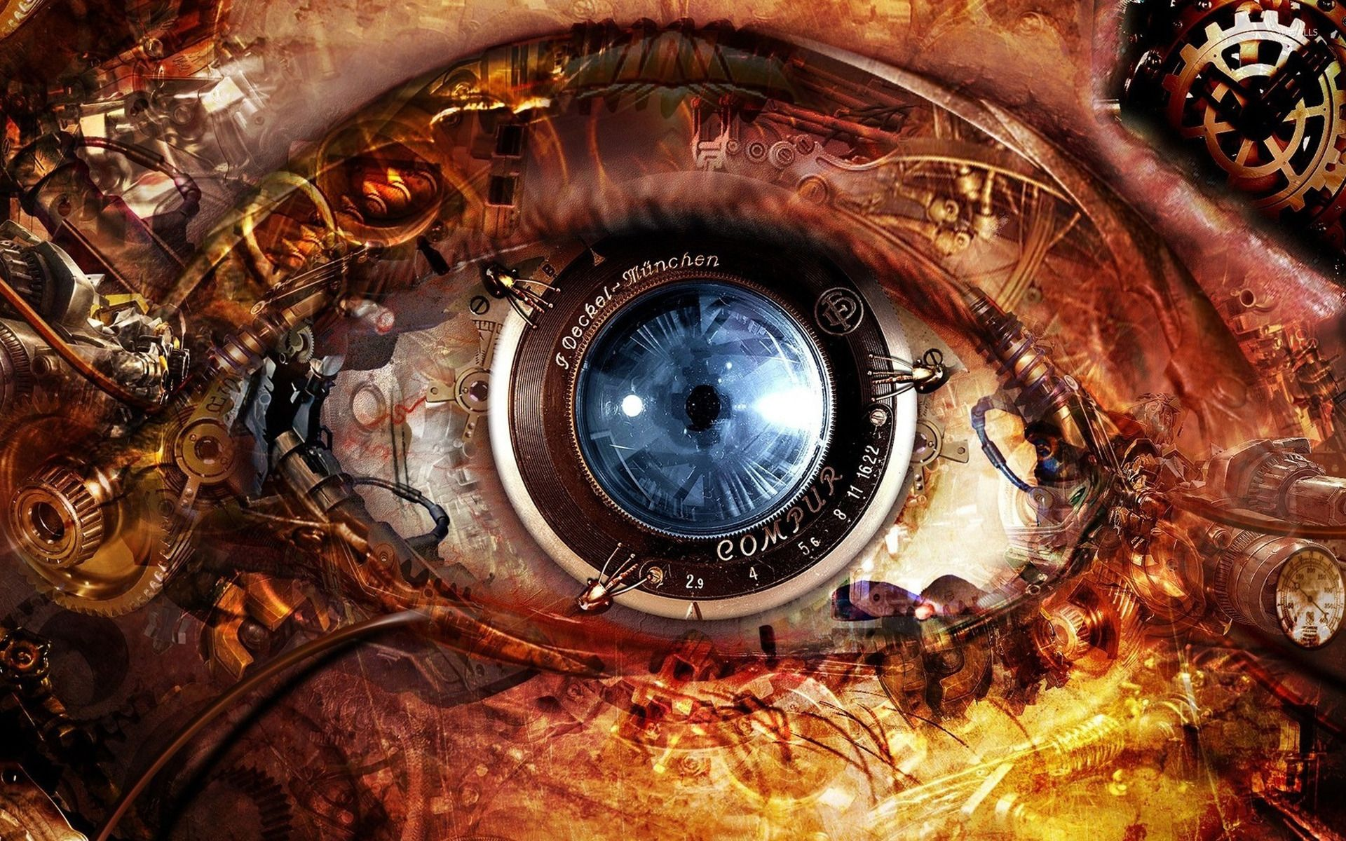 1920x1200 Steampunk Eye wallpaper - Digital Art wallpapers - #14139