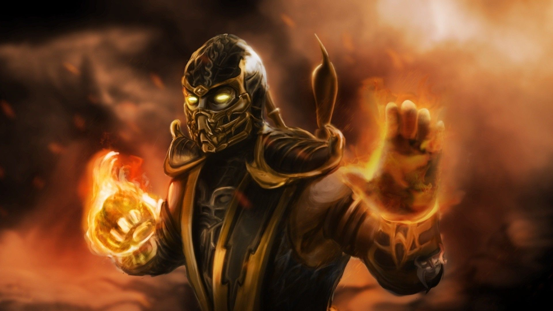 48 Best Free Mortal Kombat Scorpion Wallpapers Wallpaperaccess