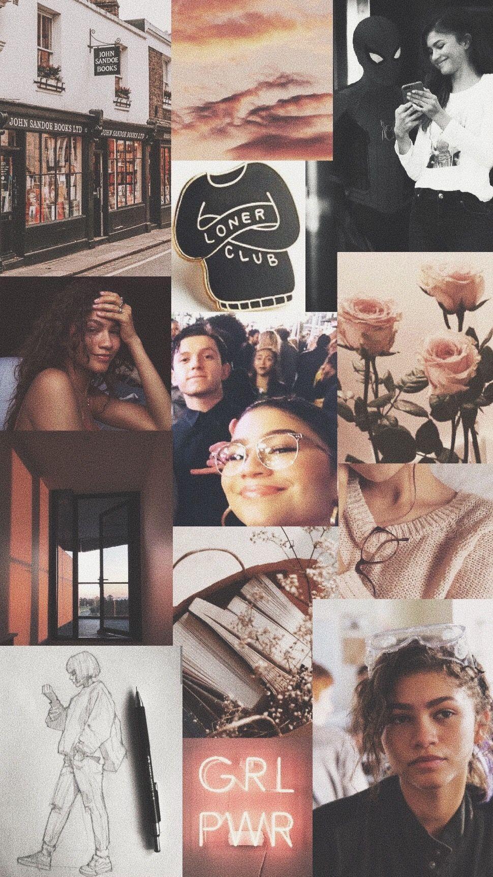 Zendaya Aesthetic Collage Wallpapers Top Free Zendaya Aesthetic