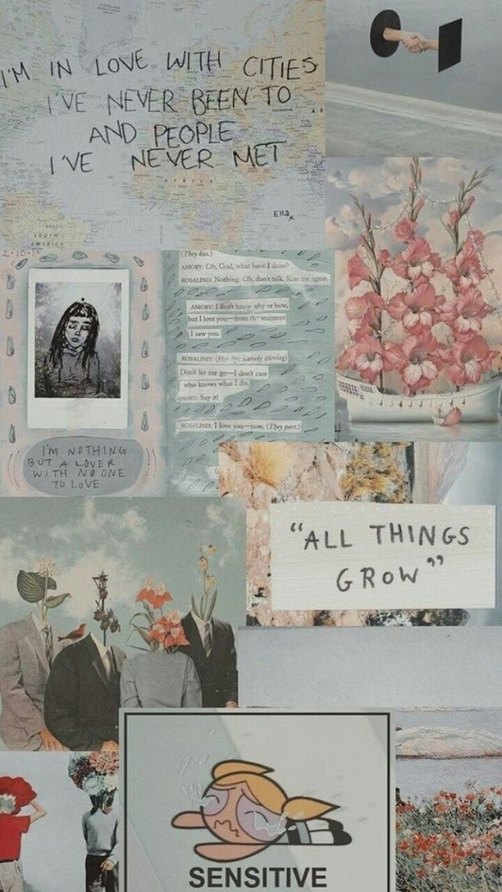 Sad Aesthetic Collage Wallpapers - Top Free Sad Aesthetic ...