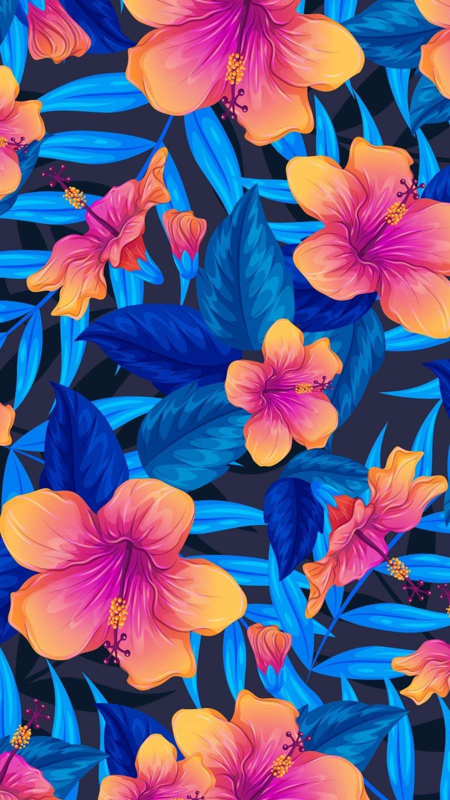 Colorful Flowers Iphone Wallpapers Top Free Colorful Flowers Iphone Backgrounds Wallpaperaccess