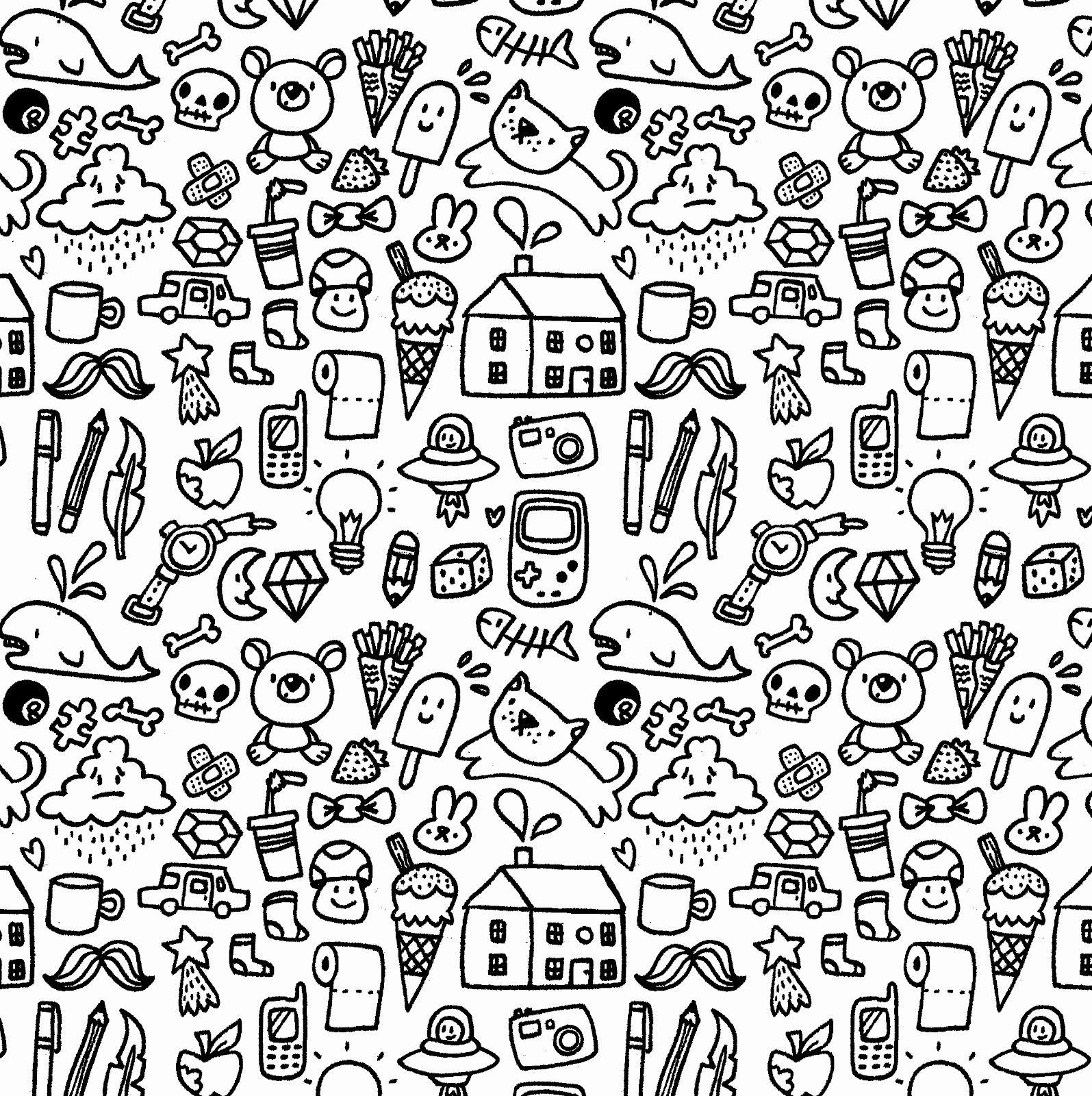 Black And White Doodle Wallpapers Top Free Black And White Doodle Backgrounds Wallpaperaccess