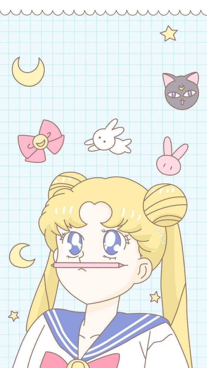 Pastel Sailor Moon Wallpapers Top Free Pastel Sailor Moon Backgrounds Wallpaperaccess