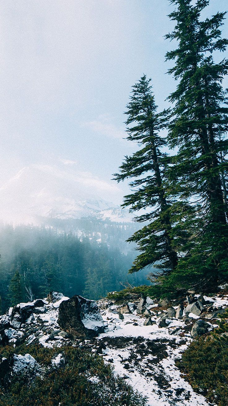 Background Iphone Snowy Mountains Test