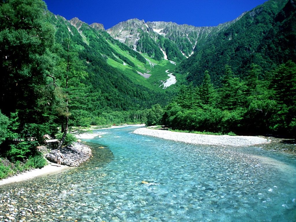 Rapid Forest River Rivers Nature Background Wallpapers on