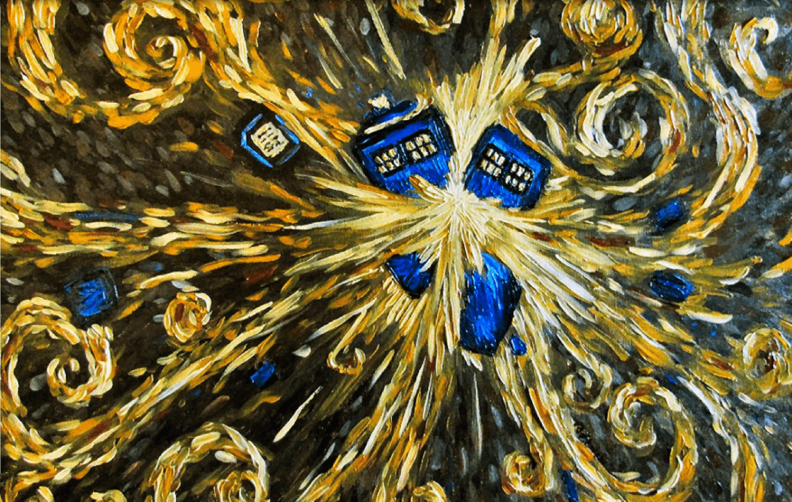 1140x723 15 Pop Culture Riffs On Van Gogh   Tardis, Van gogh and Fandom