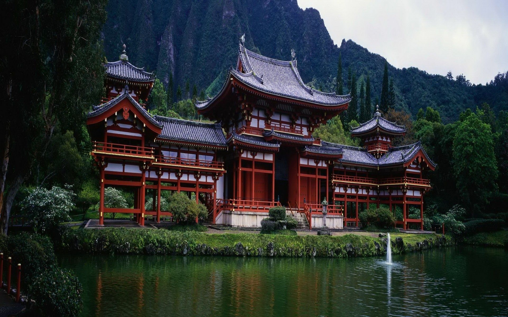 Chinese Temple in the Mountains HD Wallpapers - Top Free ...