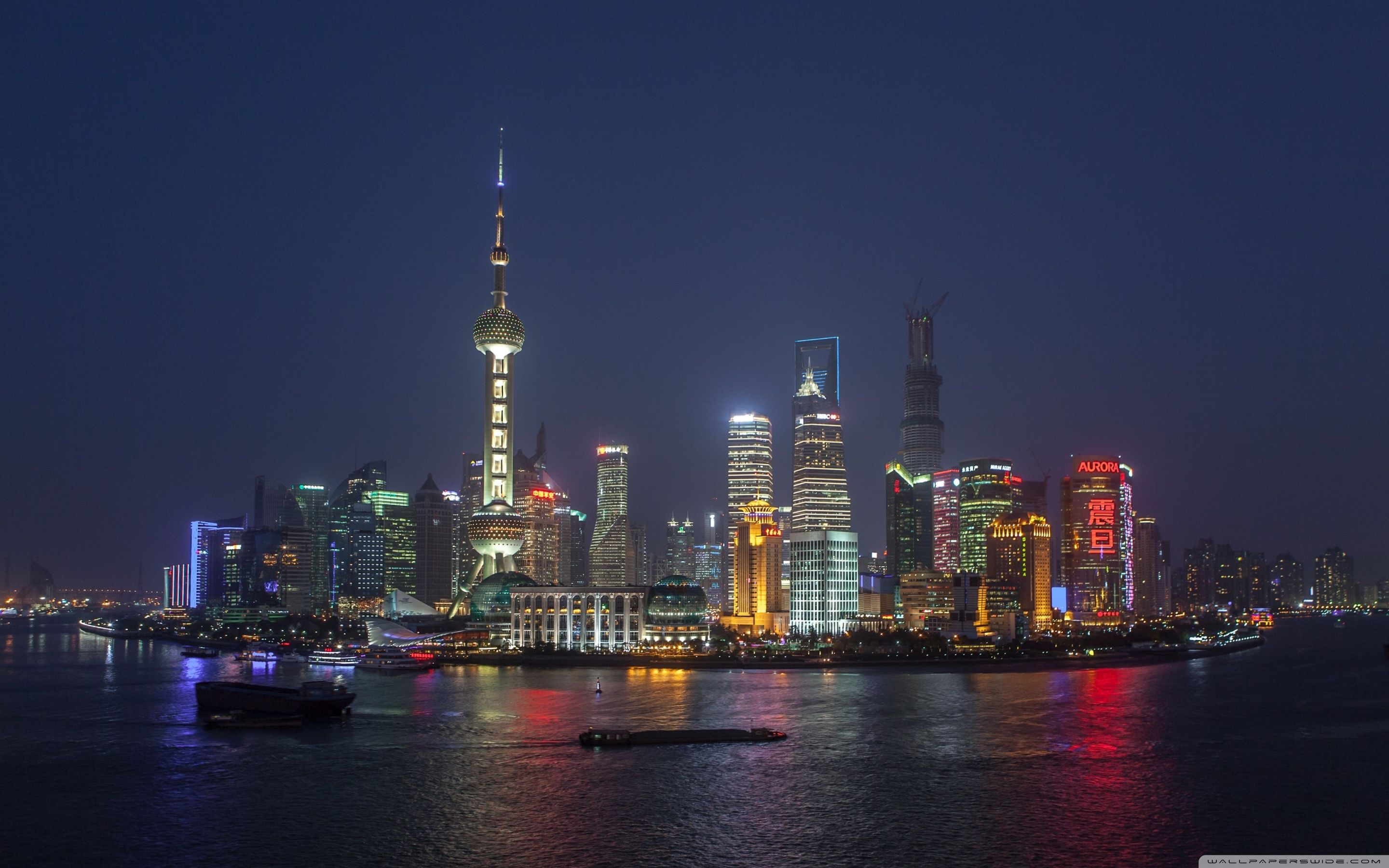 2880x1800 Shanghai China Skyline ❤ 4K HD Desktop Wallpaper for 4K Ultra HD TV .