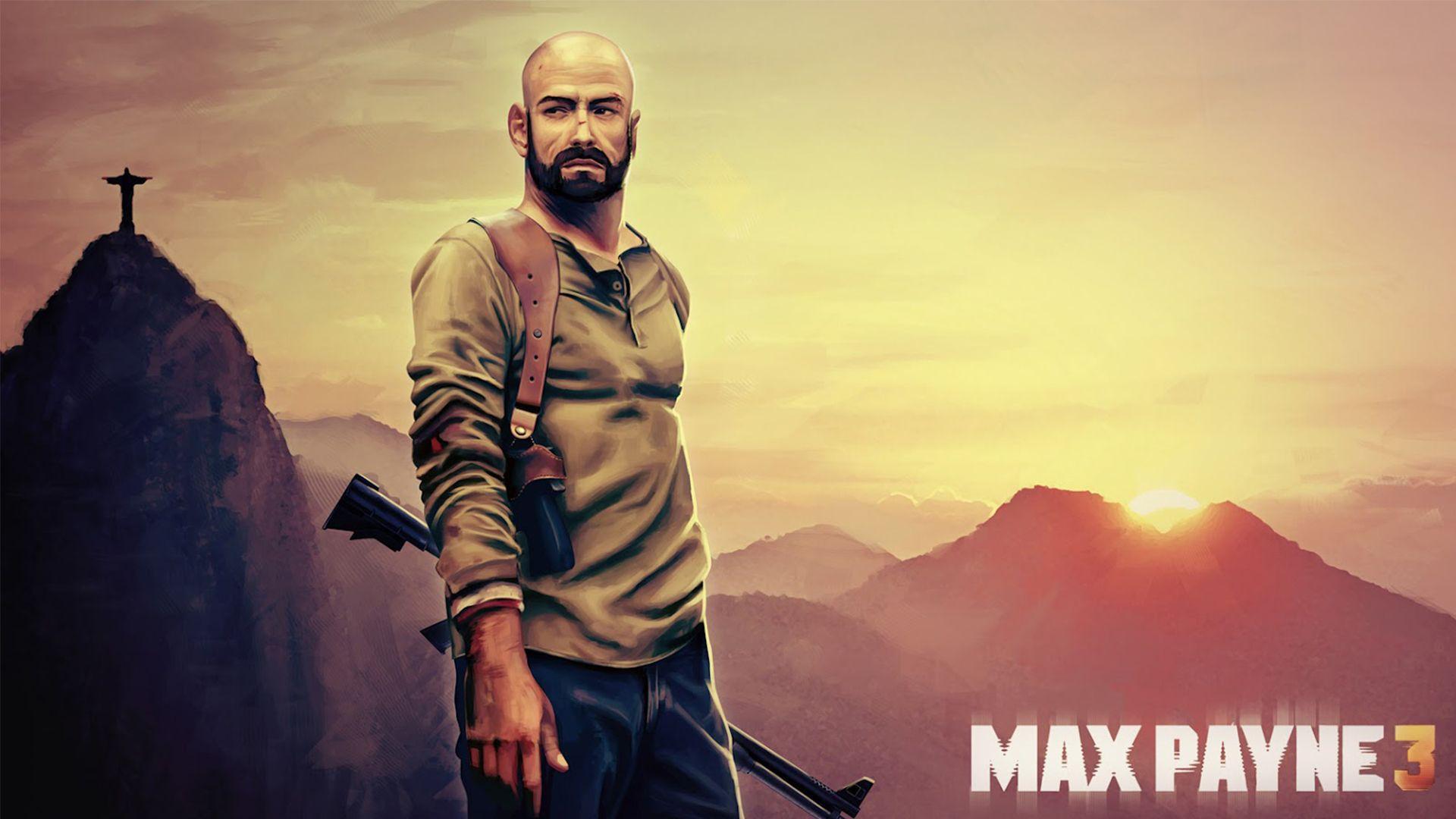 max payne 3 bald wallpaper