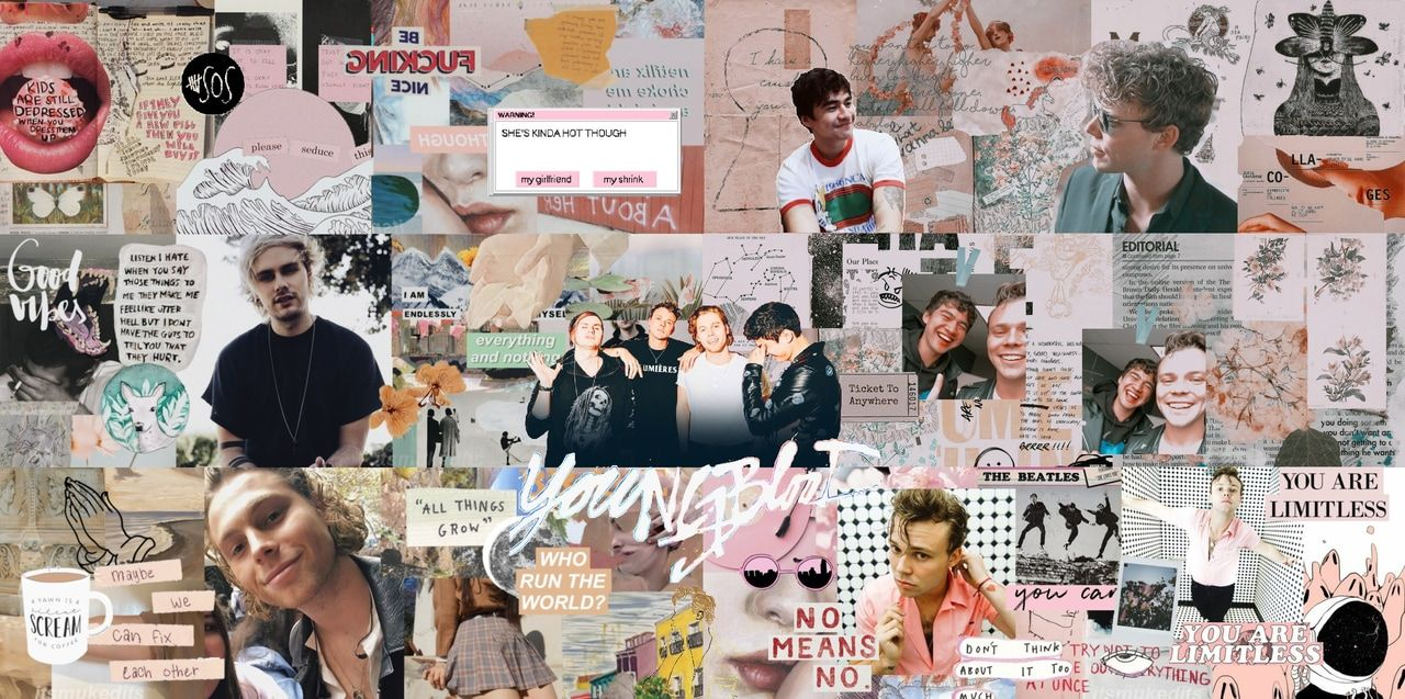 aesthetic wallpaper pc collage