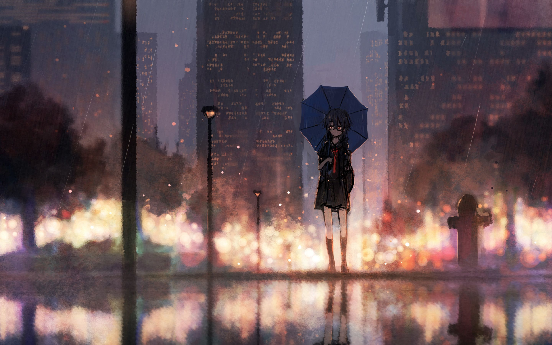 Anime Rain Wallpapers Top Free Anime Rain Backgrounds Wallpaperaccess