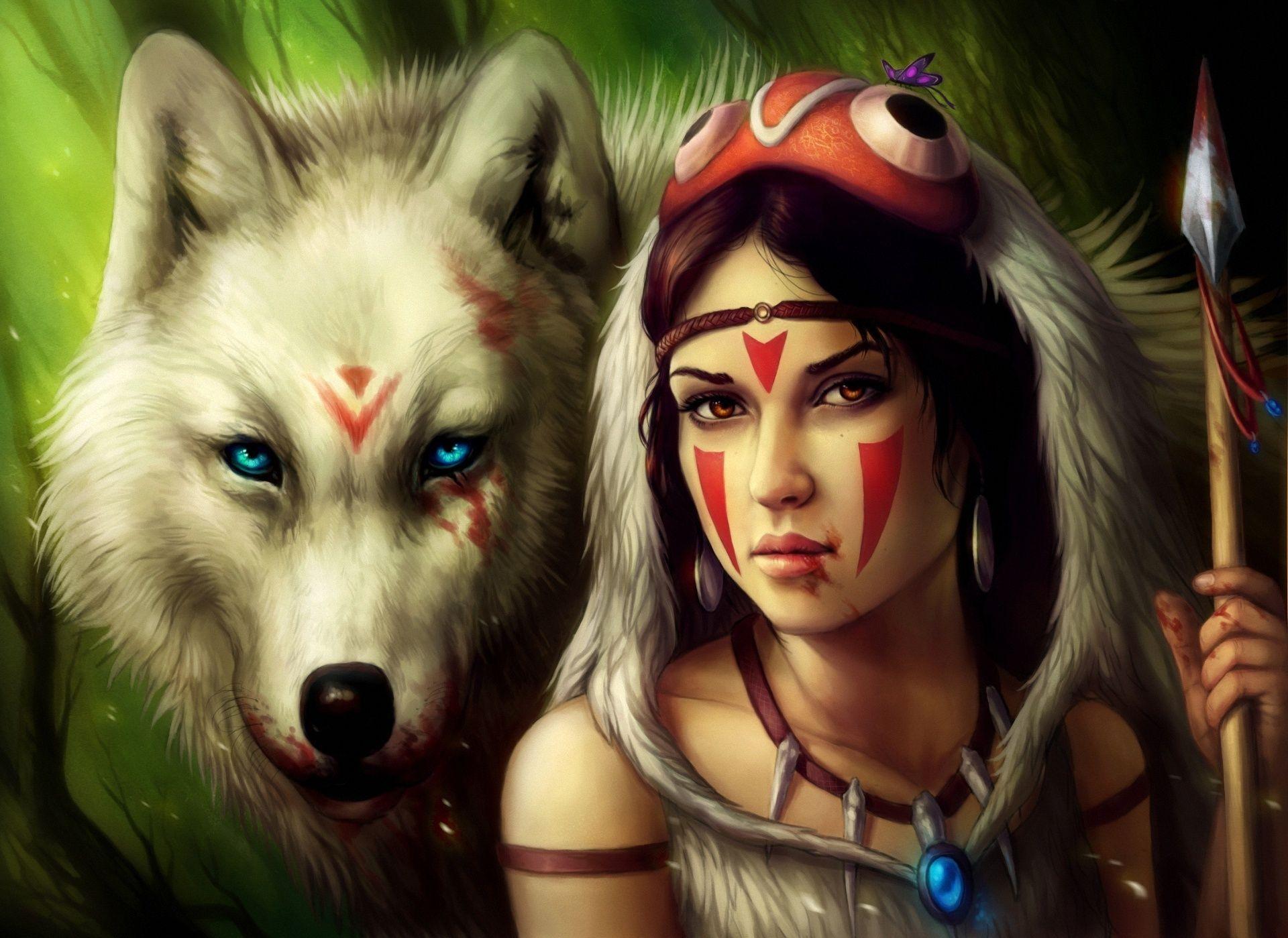 34 best free wolf girl wallpapers wallpaperaccess