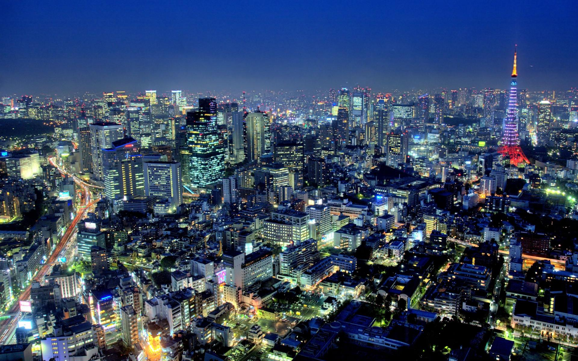 Japan Tokyo At Night Wallpapers Top Free Japan Tokyo At Night Backgrounds Wallpaperaccess