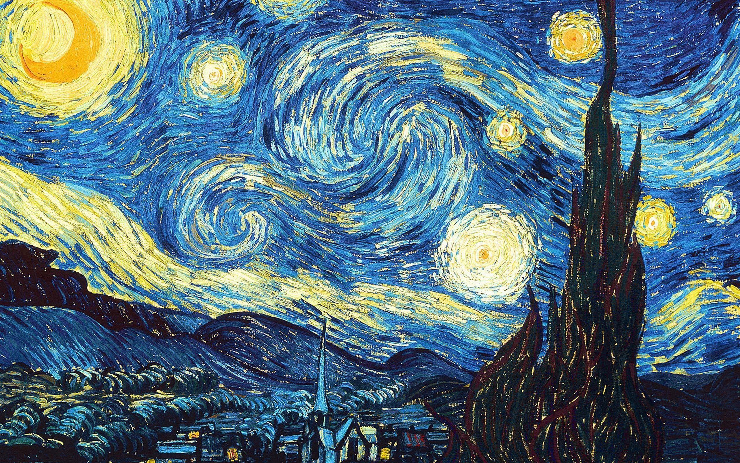 Vincent Van Gogh The Starry Night Desktop Wallpapers Top