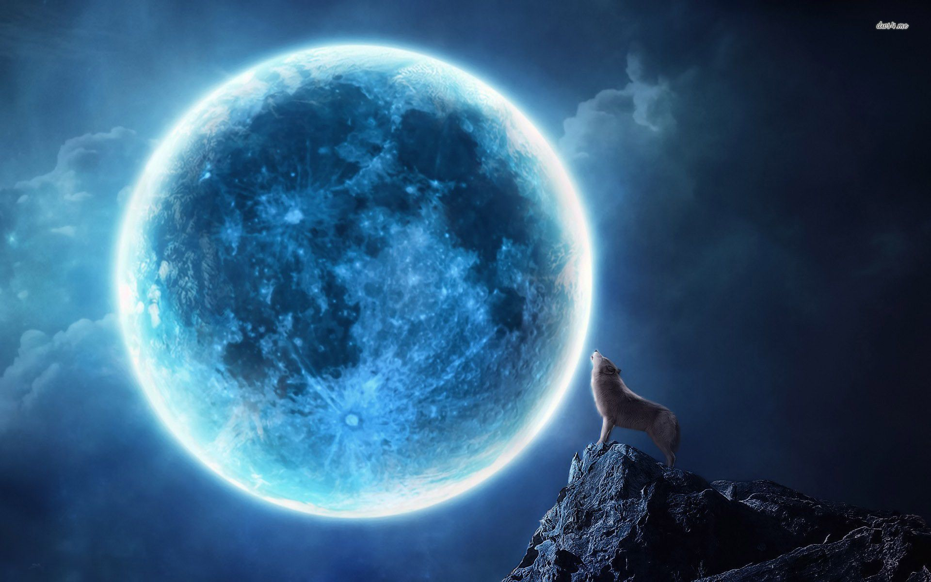 Blue Moon Wallpapers Top Free Blue Moon Backgrounds Wallpaperaccess