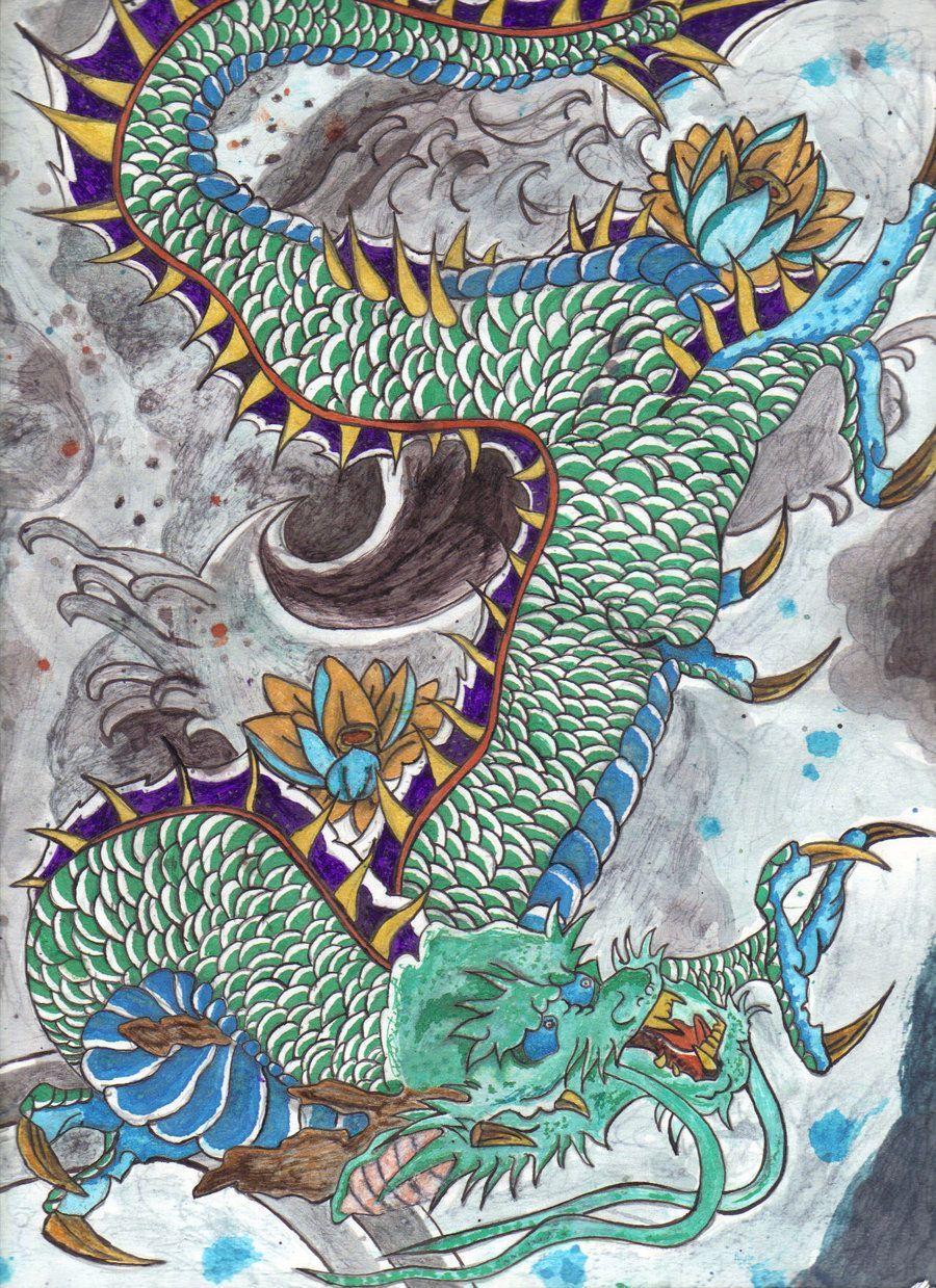 Japanese Dragon: Traditional Japanese Art Wallpapers