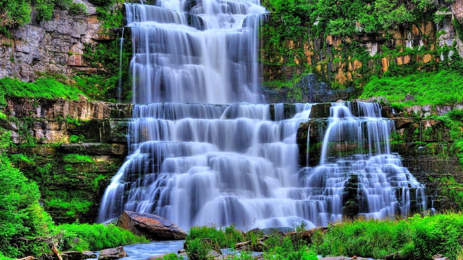 Waterfall Nature Wallpapers Top Free Waterfall Nature Backgrounds