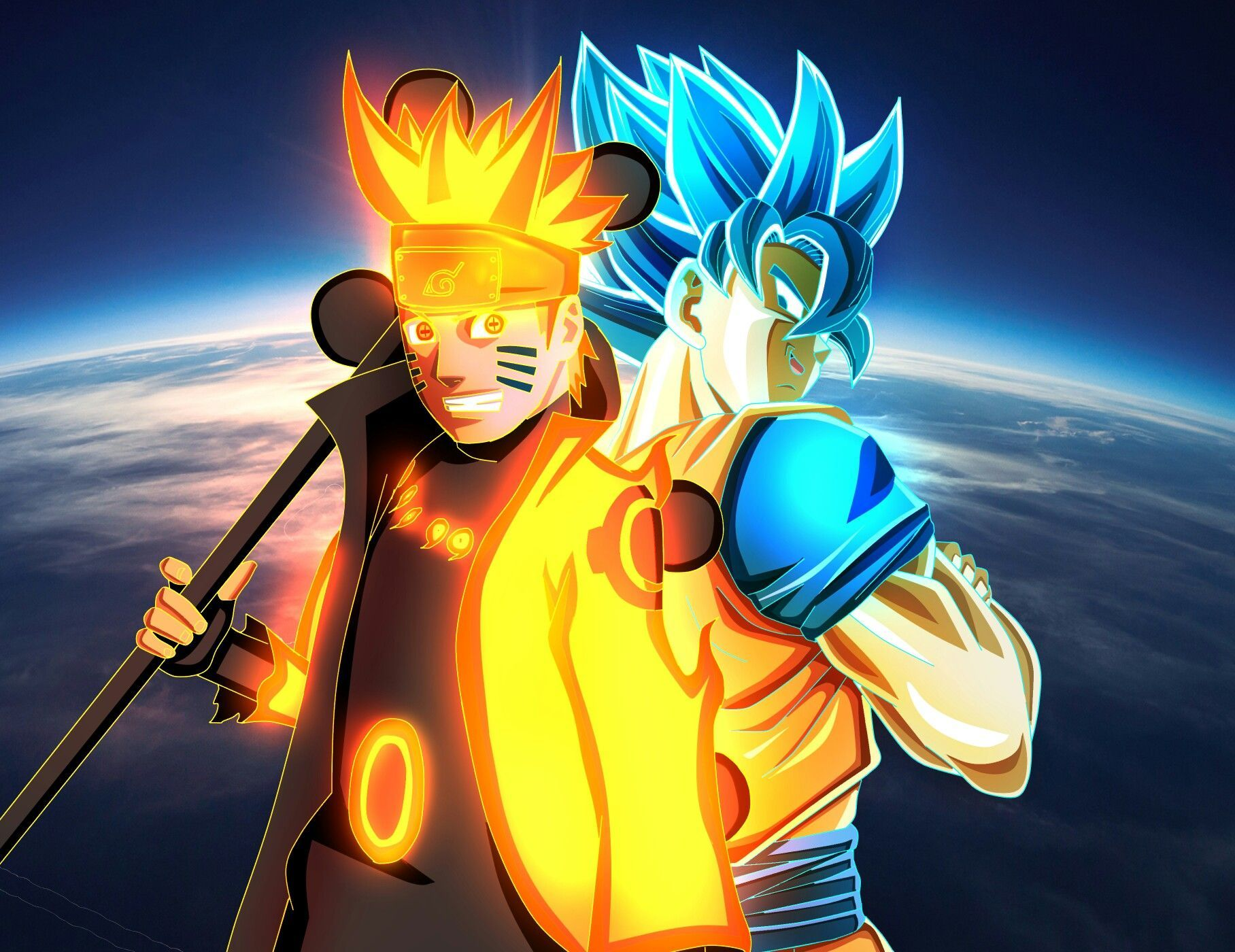Naruto And Goku Wallpapers Top Free Naruto And Goku Backgrounds Wallpaperaccess