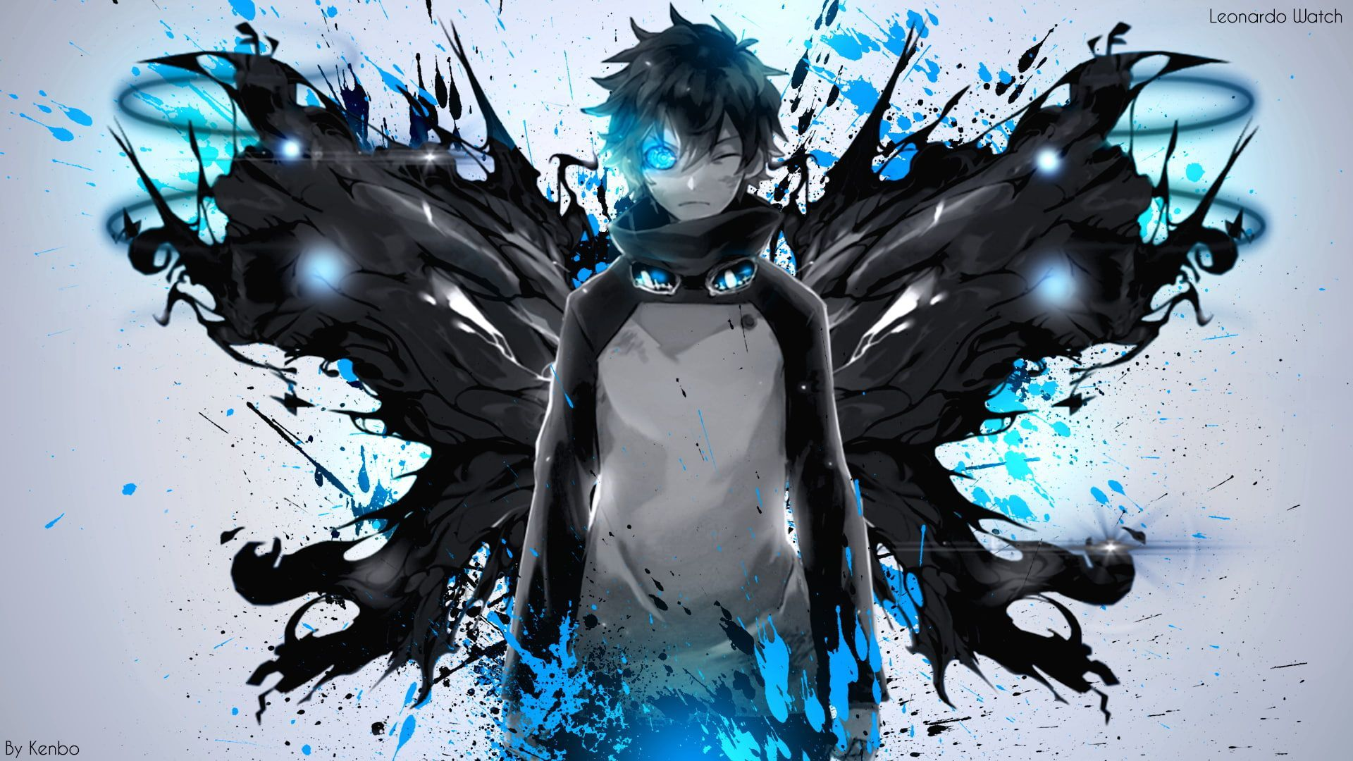 Cool Anime Blue Wallpapers Top Free Cool Anime Blue Backgrounds Wallpaperaccess