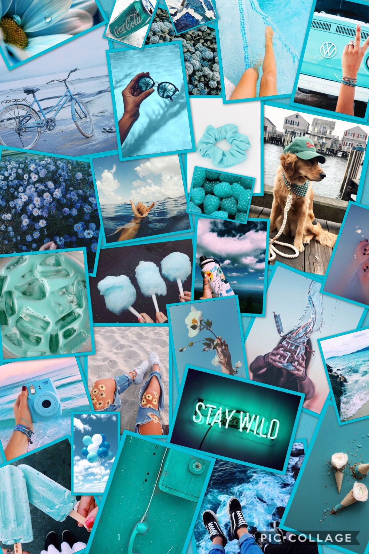 Blue Collage Wallpapers - Top Free Blue ...