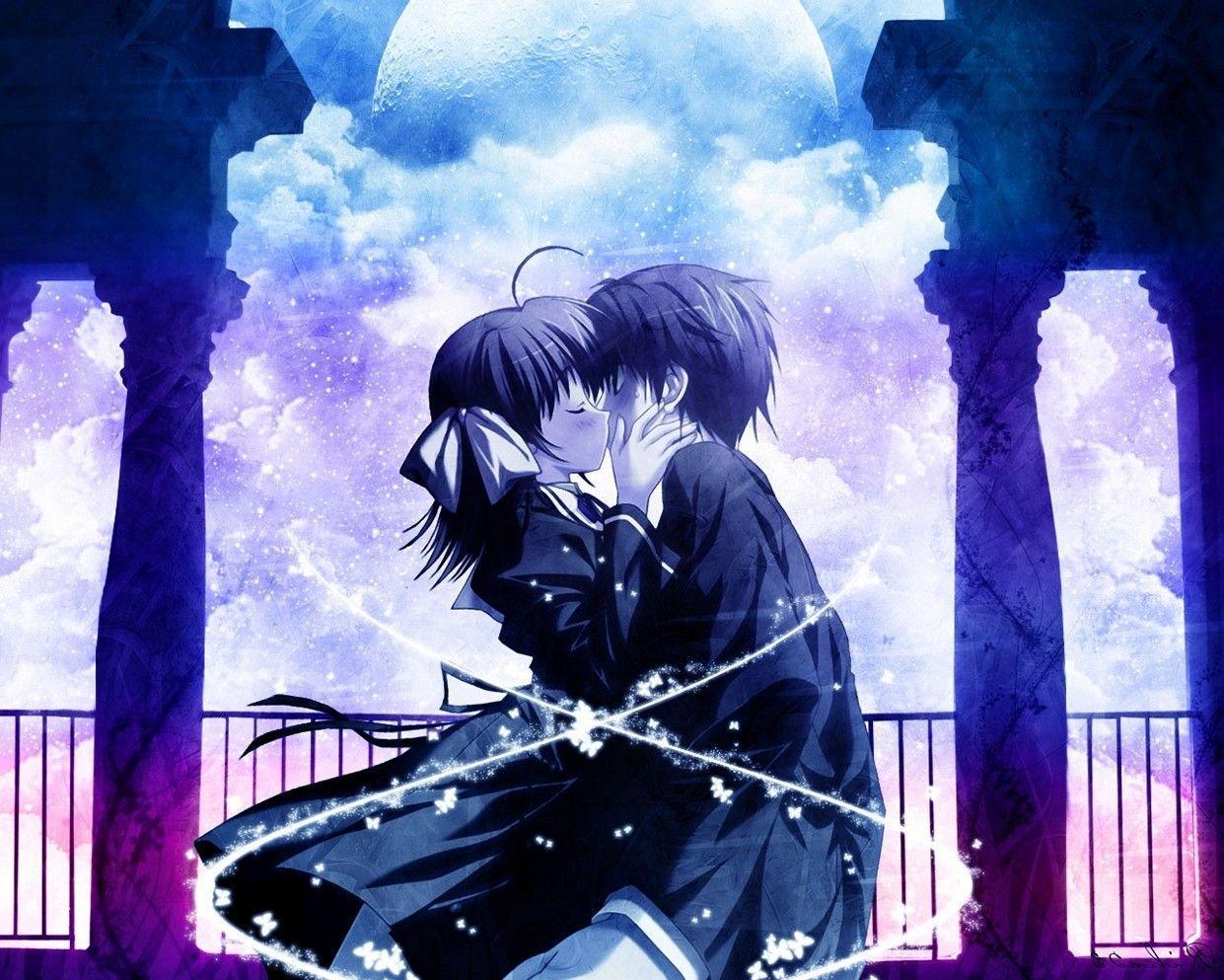1241x993 Hình nền Anime dễ thương Boy And Girl