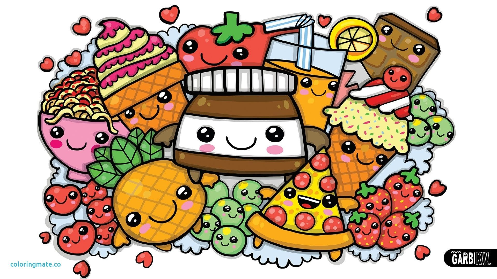 Kawaii Fast Food Wallpapers Top Free Kawaii Fast Food Backgrounds