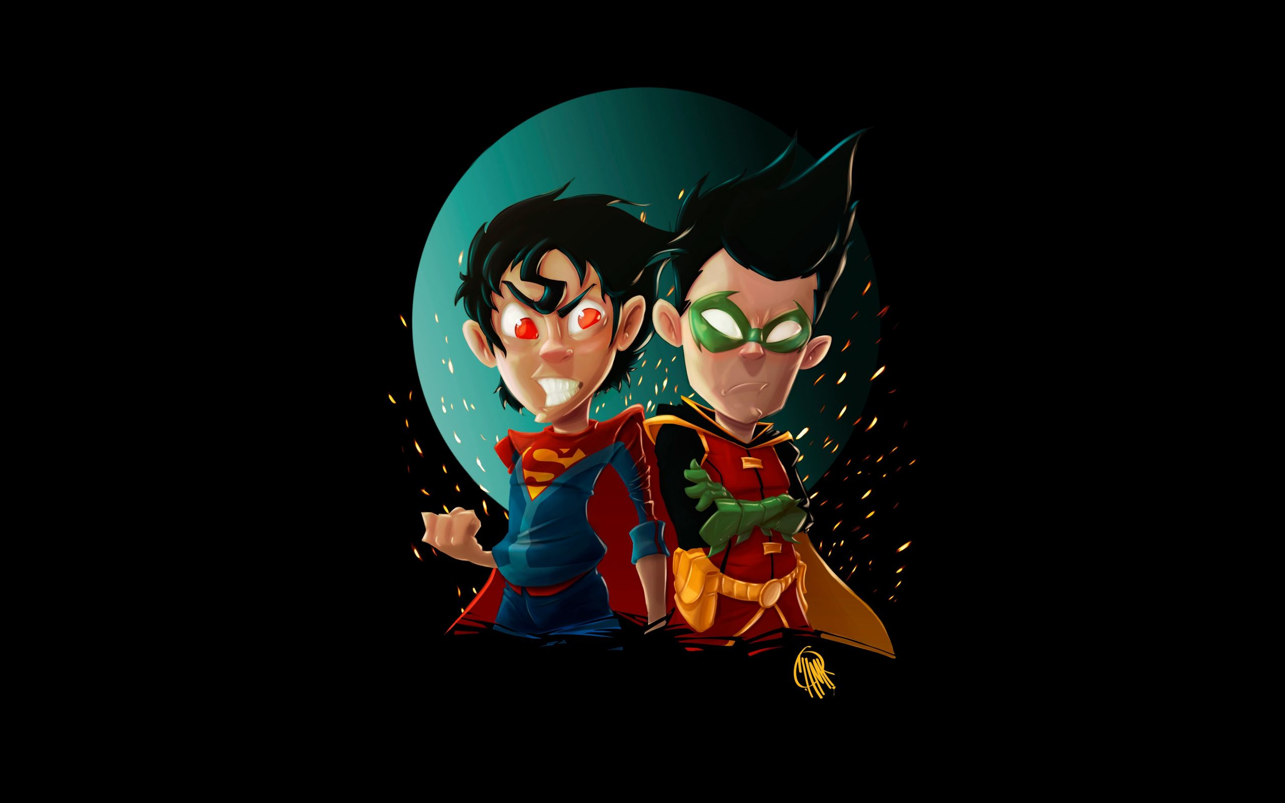 Superboy joins the teen titans