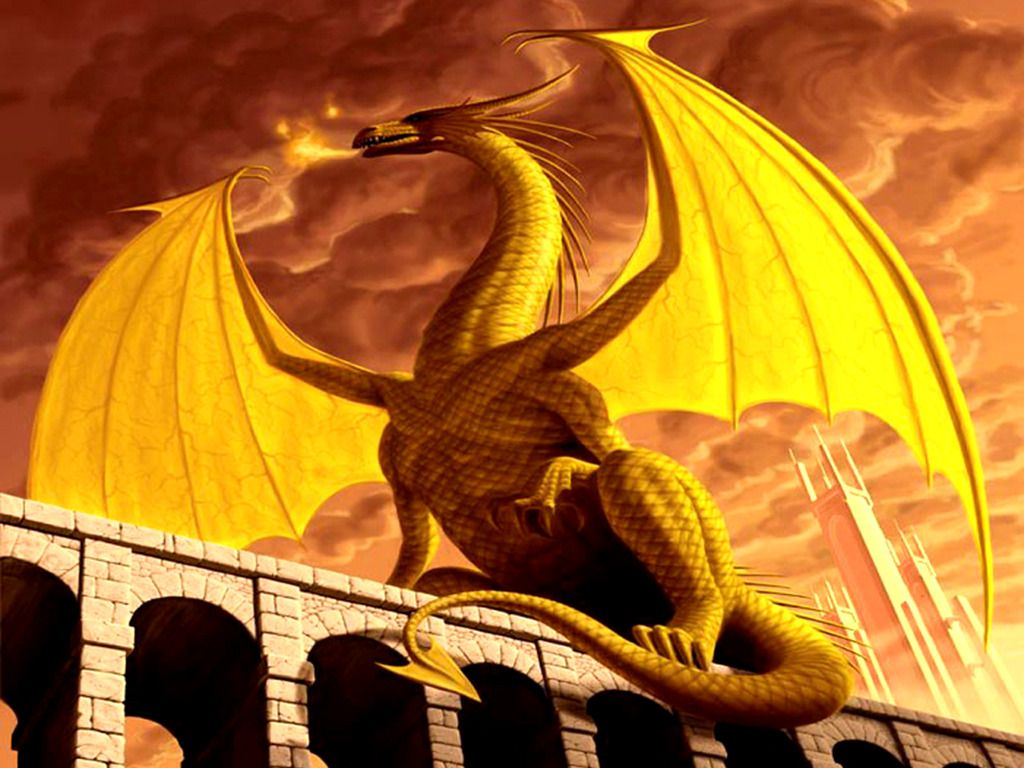 golden western dragon