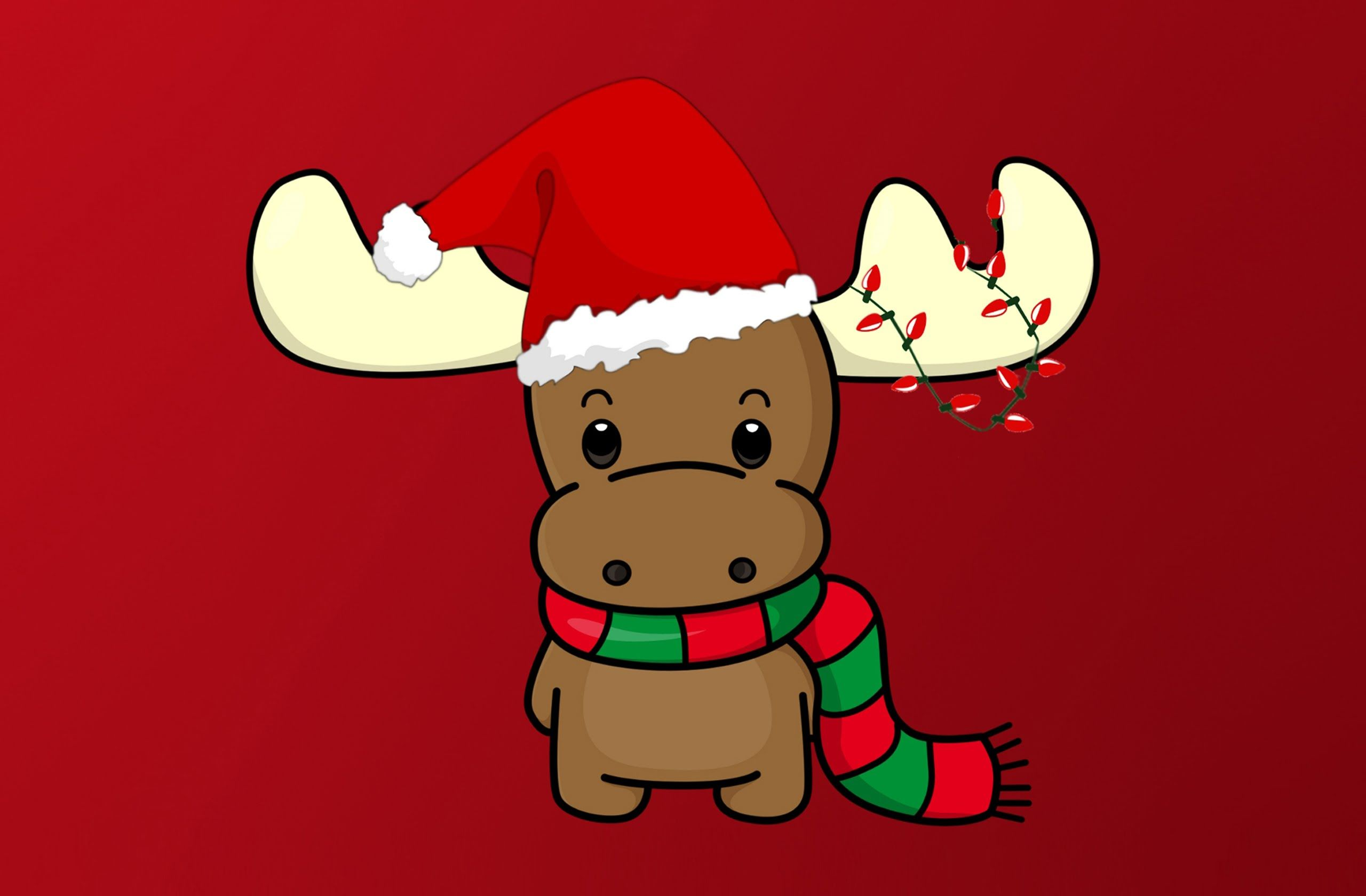 Cute Christmas Reindeer Wallpapers