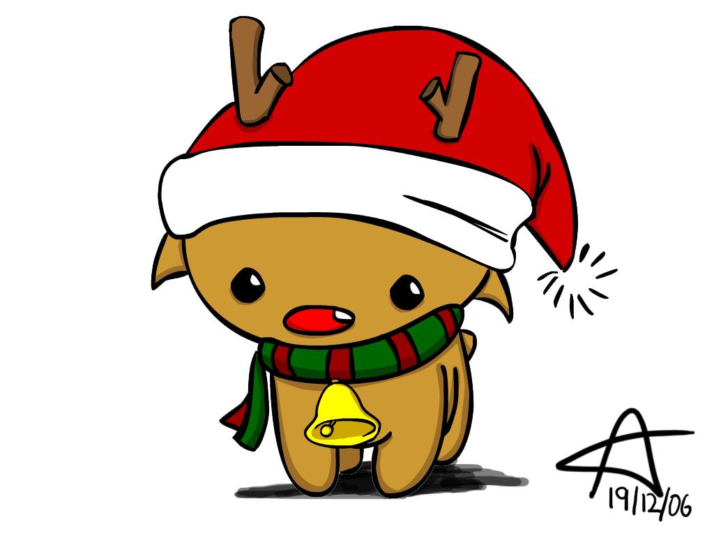 Cute Christmas Reindeer Wallpapers Top Free Cute Christmas