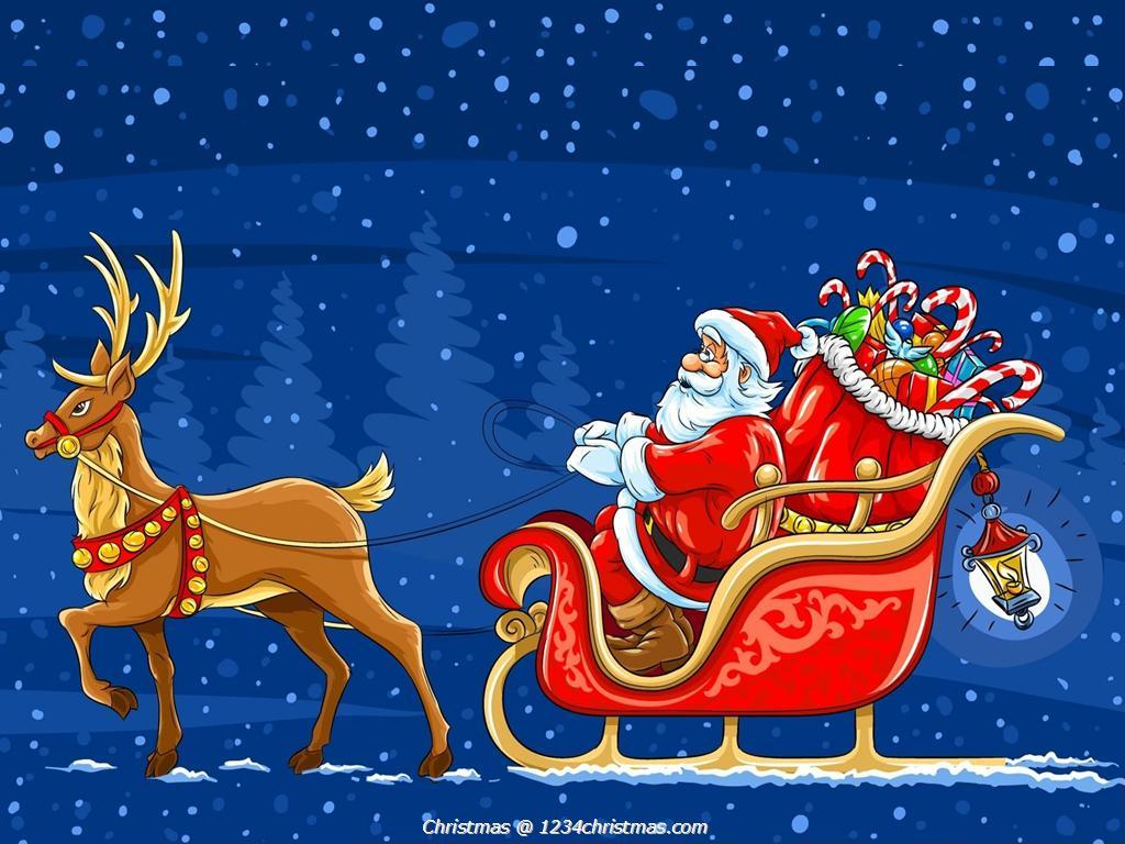 Santa And Reindeer Wallpapers Top Free Santa And Reindeer