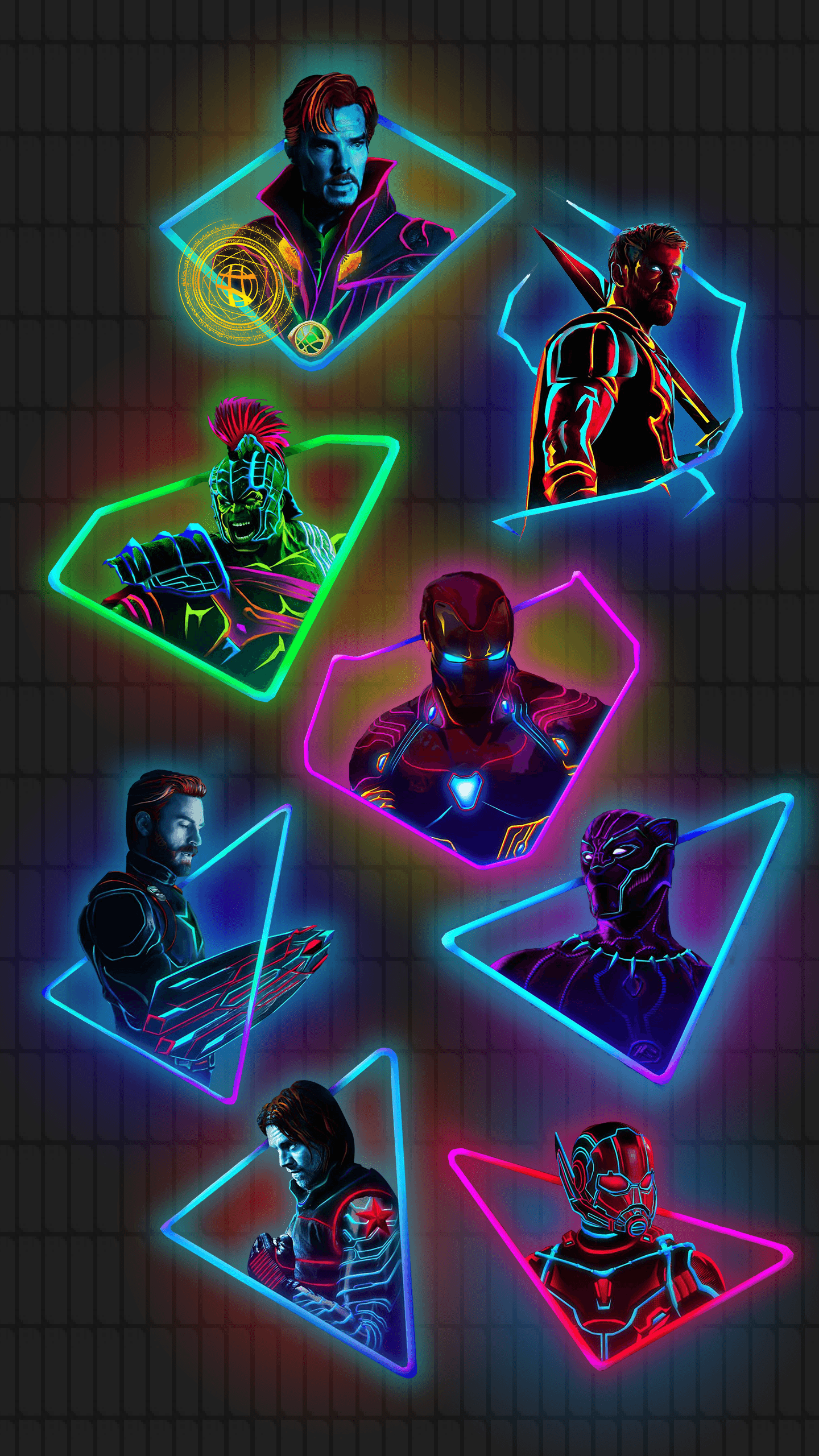 Neon Avengers Wallpapers Top Free Neon Avengers Backgrounds Wallpaperaccess